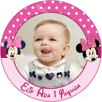 Minnie Mouse Resimli Etiket - ET113 Etiket & Stickers