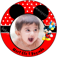 Mickey Mouse Fotolu Sticker - ET115 Etiket & Stickers
