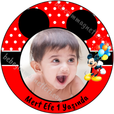 Mickey Mouse Resimli Etiket Sticker - ET115