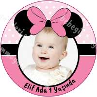 Minnie Mouse Etiket Sticker - ET114 Etiket & Stickers