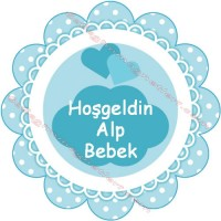 Baby Shower Papat Kesim Etiket - ET52 Etiket & Stickers