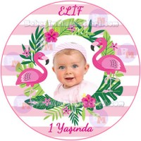 Flamingo Temalı Sticker - ET111 Etiket & Stickers