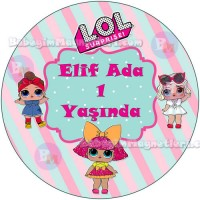 Lol Bebek Konseptli Sticker - ET99 Etiket & Stickers