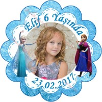 Frozen Konseptli Stickerlar -  ET10 Etiket & Stickers