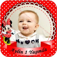 Kare Kesim Minnie Mouse Sticker - ET20 Etiket & Stickers