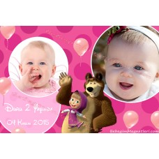 Mash and Bear Temalı Foto Magnet - DMK73