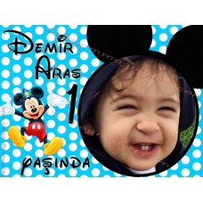Mickey Mouse'lu Foto Magnet - DME77